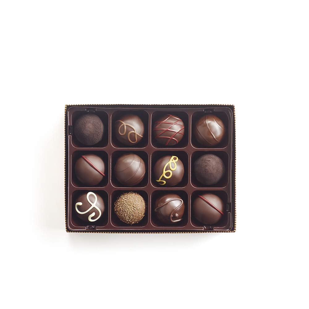 Godiva Chocolatier Dark Chocolate Truffles Gift Box, Great for Gifting, Dark Chocolate Treats, Gifts for Her, Mothers Day Gifts, 12 Piece by GODIVA Chocolatier (Image #1)