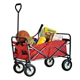 Sandusky Lee FCW3622 Red Polyester Fabric Light Duty Folding Wagon with Solid Steel Frame, 150 lbs Capacity, 36