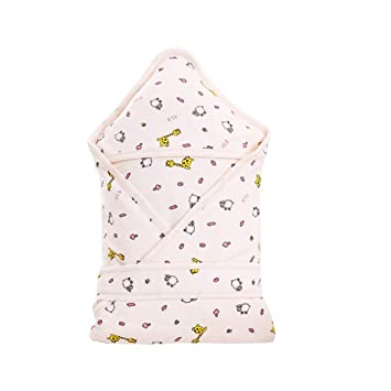 Bobbbiio Envolvente Bebé Algodón Dormir Recien Nacido Saco De Dormir Manta De Arrullo Cobija Otoño E Invierno Comodidad Transpirable Acolchada,Pink: ...