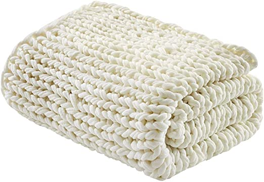 Park Designs Cozy /& Warm Red Cream Cable Knit Throw Blankets /& Pillow Covers