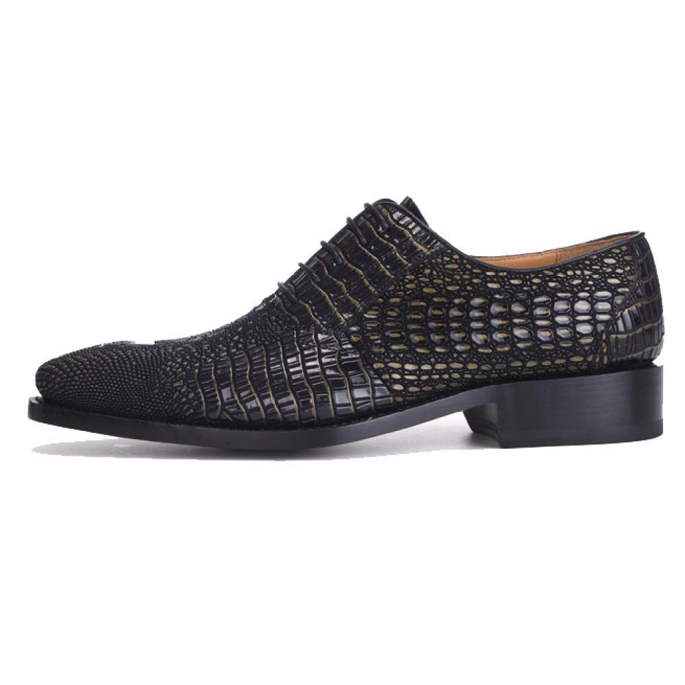 Frühling und Herbst Handgemachte Goodyear High End Schnürschuhe Custom Stilvolle und Bequeme Schnürschuhe End Schuhes schwarzgold 42252b