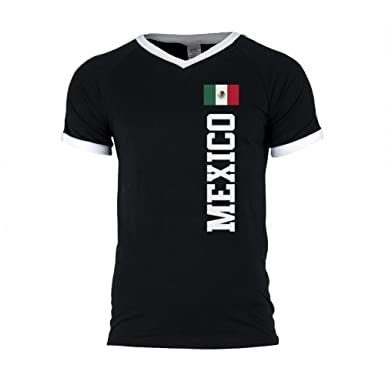 99a82925d Amazon.com  Old Glory World Cup Mexico Mens Soccer Jersey V-Neck T-Shirt   Clothing