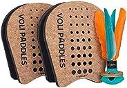 Waboba Voli Racquet Set W/Flyer Racket, Red, Black