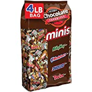 MARS Chocolate-Mini Chocolate Favorites Variety Pack-Contains: SNICKERS, TWIX, 3 MUSKETEERS, MILKY WAY-240 Mini Size Packets