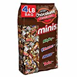 SNICKERS, TWIX, 3 MUSKETEERS, MILKY WAY Halloween Chocolate Candy Minis Size Variety Mix, 240-Piece Bag
