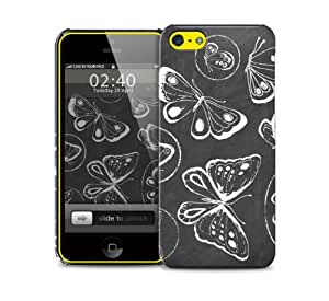 butterfly chalk iPhone 5c protective phone case by supermalls