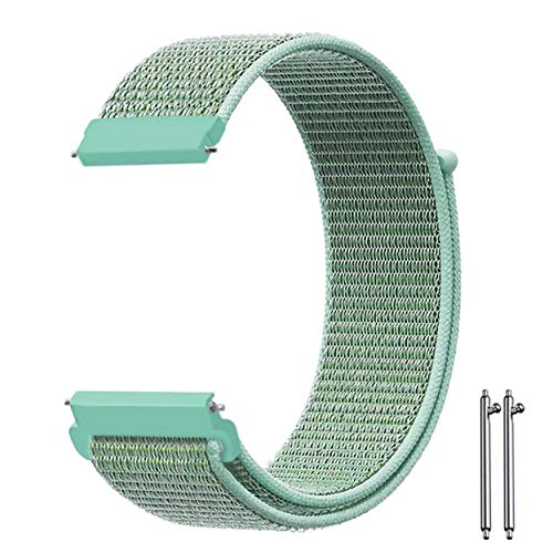 Wrist Velcro - LEXYPLUS Watch Nylon Sport Loop Wrist Bands Compatible for Samsung Active/Galaxy Watch 46mm, for Men and Women, 20mm and 22mm (A14-LIGHT Green, 20MM)
