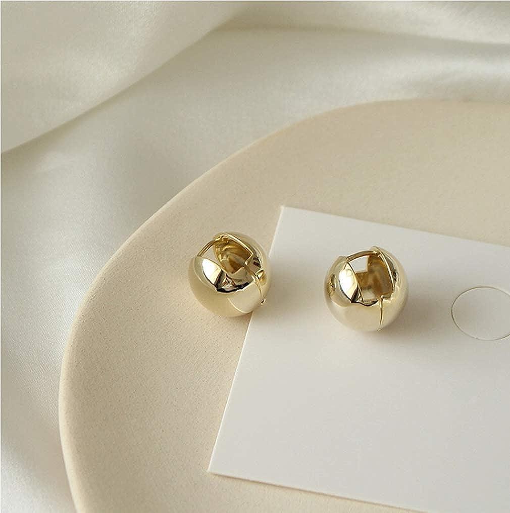 YAXUN 15mm Boule Dor/ée Huggie Boucles doreilles Cr/éoles Mode Simple Temp/érament Bijoux Cadeaux pour Les Femmes Filles