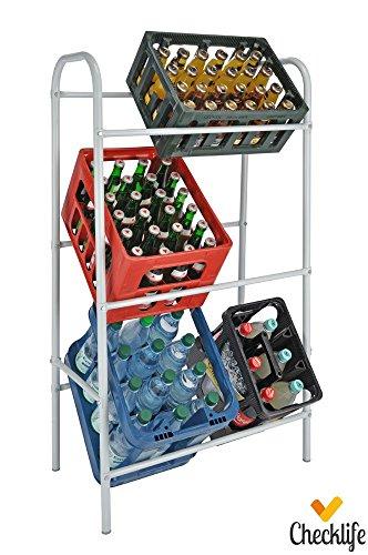 Checklife 903559 Flaschenkastenständer für bis zu 6 genormte Kisten
