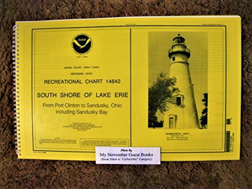 NOAA RECREATIONAL CHART 14842 SOUTH SHORE OF LAKE ERIE (Duck Upper Canada)