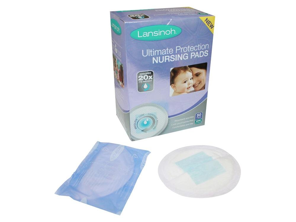 Day or Nighttime 50 Count Lansinoh Ultimate Protection Nursing Pads