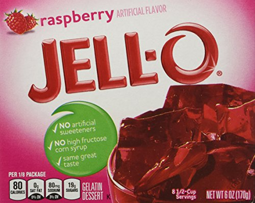 JELL-O Gelatin Dessert, Raspberry, 6-Ounce Boxes (Pack of 6)