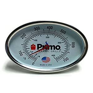 Primo Grill Thermometer for Primo Ceramic Grills - Now 200% Larger and Ability to Calibrate
