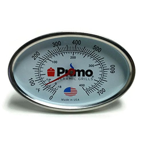 Primo Grill Thermometer for Primo Ceramic Grills - Now 200% Larger and Ability to Calibrate ()