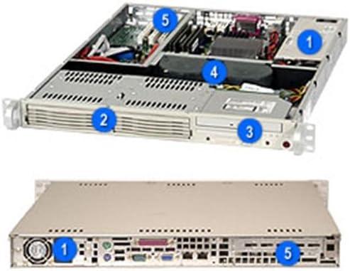 Supermicro cse-811i-410システムキャビネット – rack-mountable – 1u – ATX電源供給 – 410 W – ベージュ