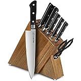 Tojiro DP 8-piece Slim Knife Block Set, Acacia