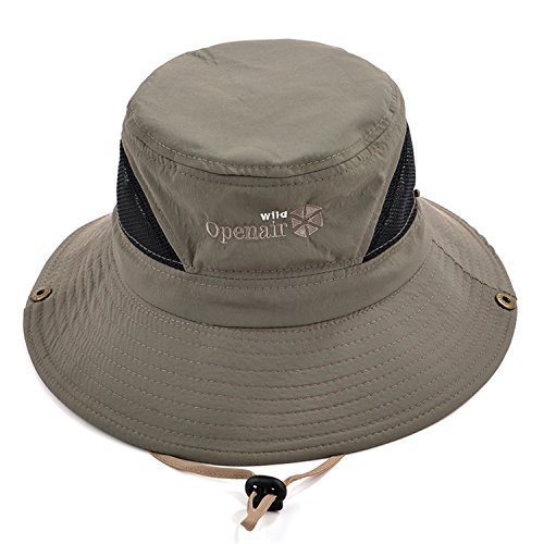Sun Protection Bucket Fishing Hats for Men and Women Summer Outdoor SPF 50+  Boonie Cap (Tan Brown) - Buy Online in UAE.  09dd389c89b