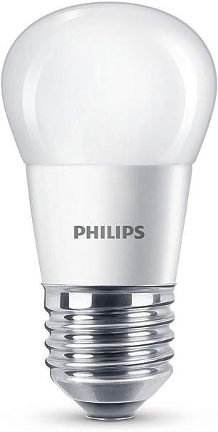 Image ofPhilips Lighting Bombilla Gota Vela LED de luz cálida, 4 W/25W, Casquillo E27, Blanco, 40 W           [Clase de eficiencia energética A+]