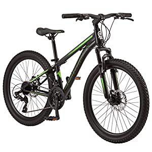 Schwinn Sidewinder Mountain Bike, 24-inch Wheels, 21 speeds, Black/Green