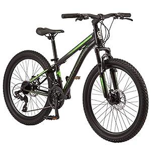Schwinn Sidewinder Mountain Bike, 24-inch Wheels, 21 speeds, Black/Green