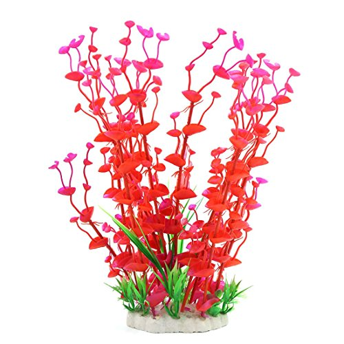 Picture of Jardin Manmade Plastic Plant for Fish Tank, 14.2-Inch Height, Red/Green