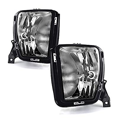 Tecoom OE Replacement Fog Lights for 2013-2020 Dodge Ram 1500 Pair Clear Lens with Bulbs: Automotive