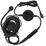 KENMAX Tactical Headset with Wateroof PTT for 2 Pin Radio Kenwood BAODEENG PUXING WOUXUN HYT TYT(Circle Shape PTT)