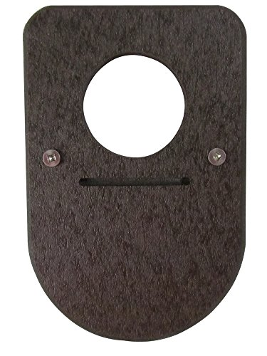 Recycled Poly Lumber Birdhouse Predator Guard (Brown)