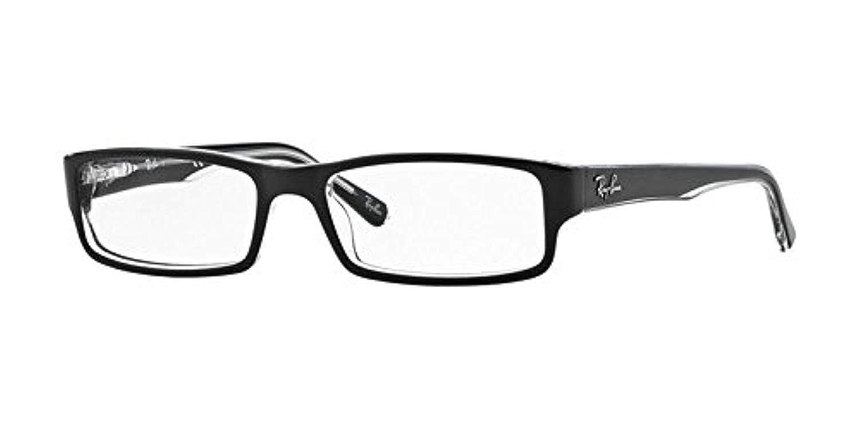 936810a627 Amazon.com  Ray-Ban Men s RX5246 Eyeglasses Top Black On Transparent 52mm   Clothing