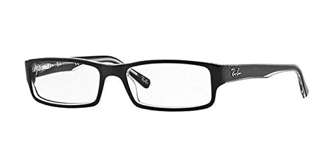 750b828ad22 Amazon.com  Ray-Ban Men s RX5246 Eyeglasses Top Black On Transparent ...