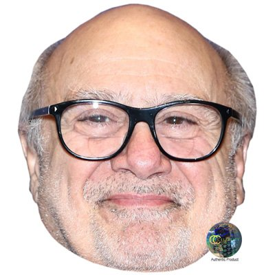 Danny Devito Celebrity Celebrity Mask  Card Face And Fancy Dress Mask