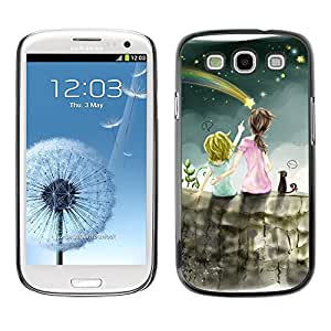 TECHCASE**Cubierta de la caja de protección la piel dura para el ** Samsung Galaxy S3 I9300 ** Meteor Shower Art Night Sky Sisters Star