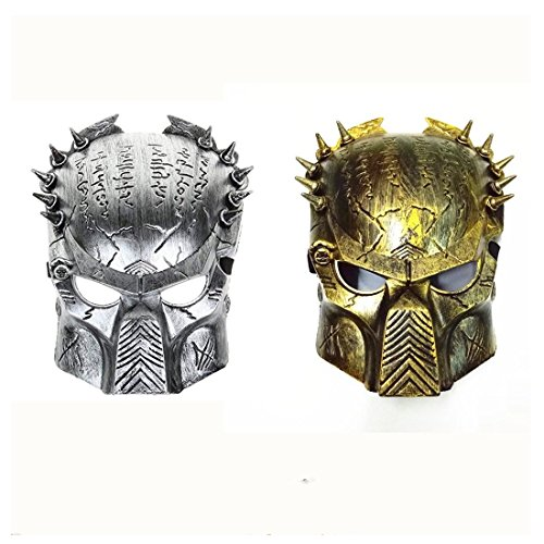 Alien vs Predator Warrior Costume Party Halloween Mask 2 Pieces]()