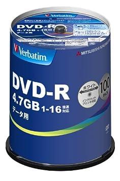 【クリックで詳細表示】三菱ケミカルメディア Verbatim 1回記録用 DVD-R DHR47JP100V4 (片面1層/1-16倍速/100枚)