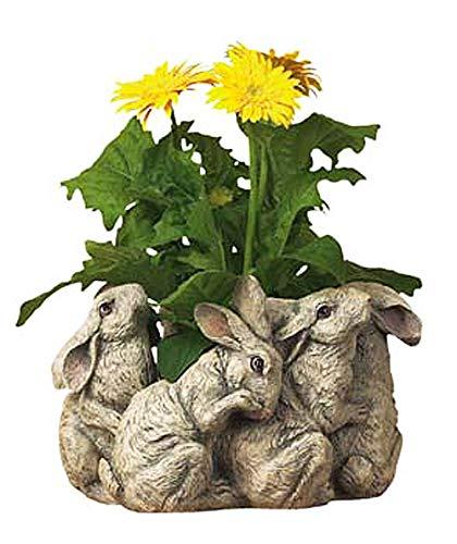 CENTERPIECES & Table Decor - Playful Bunnies Centerpiece - Bunny Rabbit Planter ()