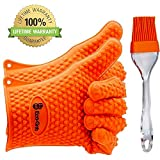NEWEST 2016 EDITION Heat Resistant Silicon Gloves For Barbecue & Oven Use, Made For Grilling,...