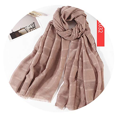 2019 Fashion Spring Hollow Linen&Cotton Scarf Women Solid Color Muslim Red Black Hijab Scarves,Camel