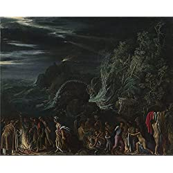 Oil Painting 'Adam Elsheimer Saint Paul On Malta ' Printing On High Quality Polyster Canvas , 18 X 22 Inch / 46 X 57 Cm ,the Best Hallway Artwork And Home Gallery Art And Gifts Is This Cheap But High Quality Art Decorative Art Decorative Prints On Canvas