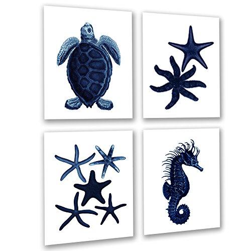 coral navy blue decor - 3