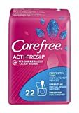 Carefree Acti-Fresh Body Shape Thin To Go Unscented Pantiliners, 22 count - Buy Packs and SAVE (Pack of 4)