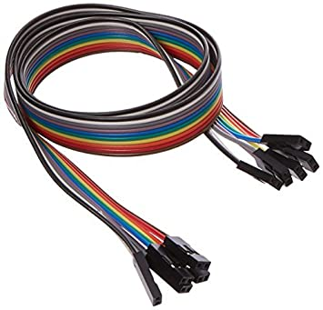 50cm 2.54mm F / F 2 Pin soldadura coloreados Breadboard Jumper Wire 5 PC: Amazon.es: Bricolaje y herramientas