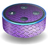 MightySkins Skin For Amazon Echo Dot (2nd Gen) - Purple Diamond Plate | Protective, Durable, and Unique Vinyl Decal wrap cover | Easy To Apply, Remove, and Change Styles | Made in the USA