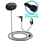 Bluetooth Receiver for Car, HomeSpot Audio Music Streaming Adapter, Wireless Phone Call Car Kit with Built-in Mic, Echo and Noise Reduction, 3.5 mm Stereo Output and Hands Free Calling for vehicle