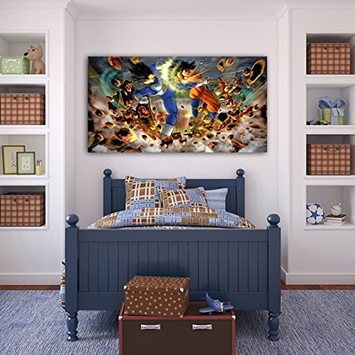 DRAGON BALL Z PRINT ON CANVAS Home Wall Decor Art