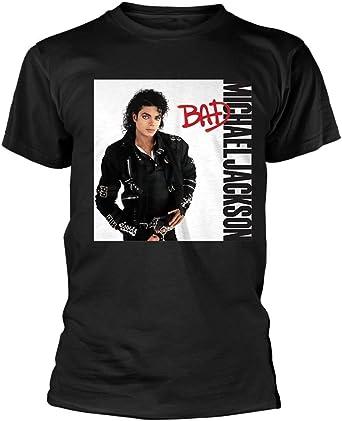 Michael Jackson Bad del álbum oficial Hombre Camiseta Top Blanco nuevo