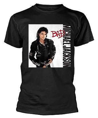 9378fdb84599 Michael Jackson 'Bad' (Black) T-Shirt: Amazon.co.uk: Clothing