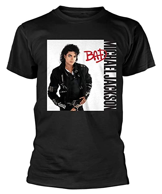 bf3d7259ed3d Amazon.com  Michael Jackson  Bad  (Black) T-Shirt  Clothing