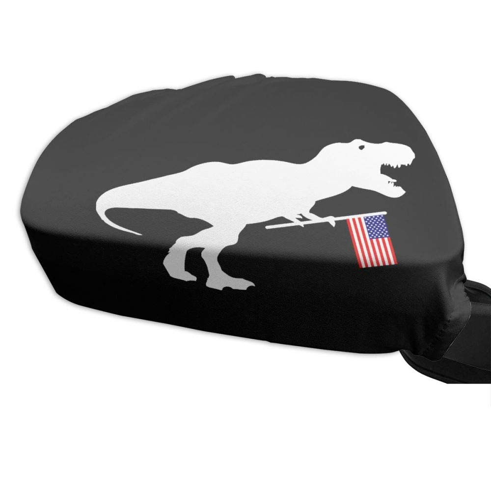 Iznwbbqsws T Rex & American Flag Side View Mirror Covers (Set Of 2) Fits Most Cars & Small SUV's