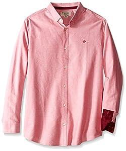 Original Penguin Men's Big-Tall Big Oxford Long-Sleeve Button-Down Shirt, Haute Red, 3X-Large