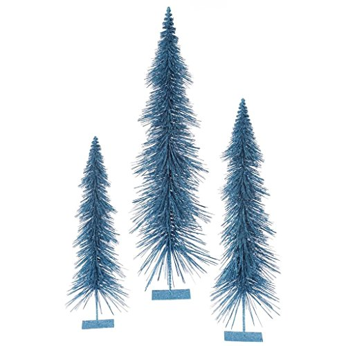 (3 Piece Glitter Layered Christmas Tree Set Color: Turquoise)